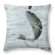Breaking Water Throw Pillow