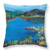 Breakwater On The Great Sacandaga  Throw Pillow