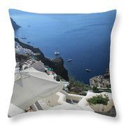 Breathtaking Santorini Throw Pillow