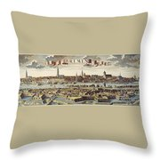 Bremen, Germany, 1719 Throw Pillow