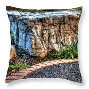 Brenda's Boulder At Dawn Or Altar In The Garden Throw Pillow
