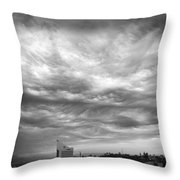 Brewing Sky Throw Pillow