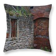 Brick And Stone England Throw Pillow
