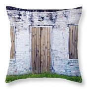 Brick And Wooden Building Throw Pillow