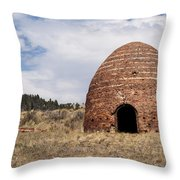 Brick Beehive Kiln Throw Pillow by Fran Riley