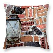 Brick Light Throw Pillow