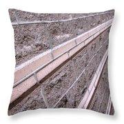 Brick Rays Throw Pillow
