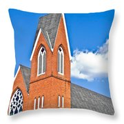 Brick Steeple Throw Pillow