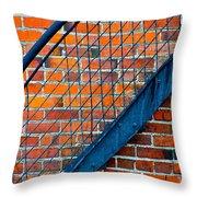 Bricks And Steel Throw Pillow