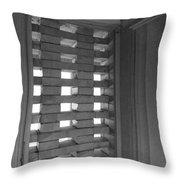 Bricks In The Window Throw Pillow by Anna Villarreal Garbis