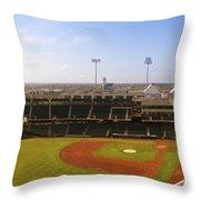 Bricktown Ballpark Throw Pillow