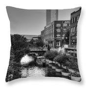 Bricktown Canal II Throw Pillow