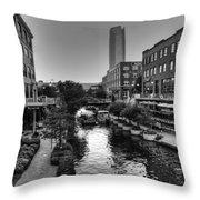 Bricktown Canal Throw Pillow