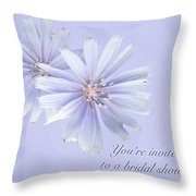 Bridal Shower Invitation - Chicory Wildflower Throw Pillow
