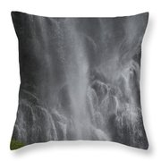 Bridal Veil Falls, Lowe River Throw Pillow
