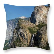 Bridal Veil In The Distance Throw Pillow