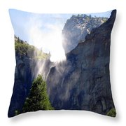 Bridalveil Falls In Yosemite Throw Pillow