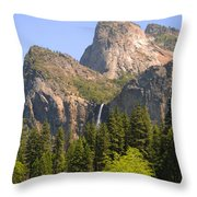 Bridalveil Falls Throw Pillow