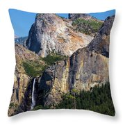 Bride At Yosemite Throw Pillow