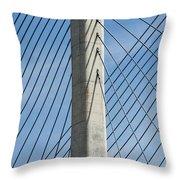 Bridge Abstract Throw Pillow