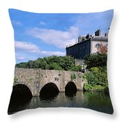 Bridge Across A Lake, Westport House Throw Pillow