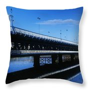 Bridge Across A River, Double-decker Throw Pillow