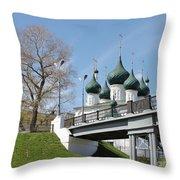 Bridge And Church Throw Pillow