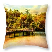 Bridge At Cypress Park Throw Pillow