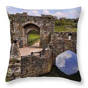 Bridge At Leeds Castle Throw Pillow