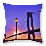Bridge At Sunset 2 Throw Pillow