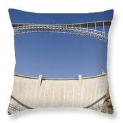 Bridge Crossing Colorado River And Glen Throw Pillow