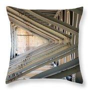 Bridge Geometry Throw Pillow