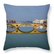 Bridge In Florence Throw Pillow