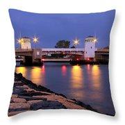 Bridge In The Jetty Throw Pillow