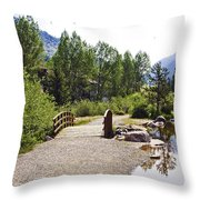 Bridge In Vail - Colorado Throw Pillow