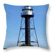 Bridge Lighthouse Throw Pillow