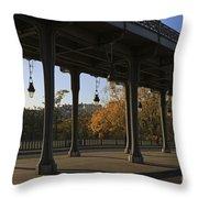 Bridge Of Bir Hakeim In Paris Throw Pillow