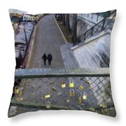Bridge Of Locks Throw Pillow