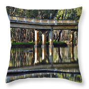 Bridge Over Ovens River 2 Throw Pillow