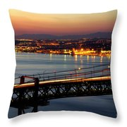 Bridge Over Tagus Throw Pillow