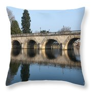 Bridge Over The River Thames Throw Pillow