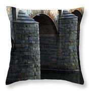 Bridge Pillars Throw Pillow