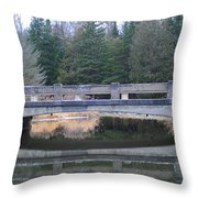 Bridge Reflection Throw Pillow