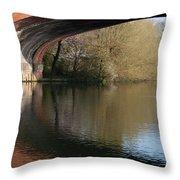 Bridge Reflections Throw Pillow