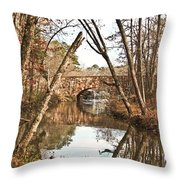 Bridge Reflections Throw Pillow