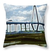 Bridge To Charleston Throw Pillow