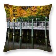 Bridge To Paradise Throw Pillow
