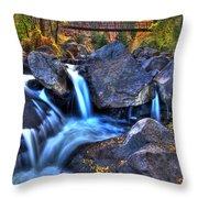 Bridge To The Seasons Throw Pillow
