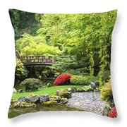 Bridge To Tranquility Throw Pillow