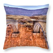 Bridges At Lees Ferry Throw Pillow